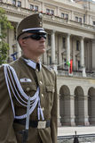 Honor Guard - Parliament Building - Budapest Stock Photo