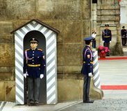 Honor guard. Prague, Czech Republic, May 14, 2009. honor guard in full dress parade in front of the presidential Palace, Prague, Czech Republic Royalty Free Stock Image