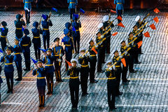 The Honor Guard of the Presidential Regiment at the Red Square Royalty Free Stock Photography