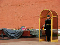Honor Guard at Tomb of the Unknown Soldier, Moscow, Russia Stock Photography