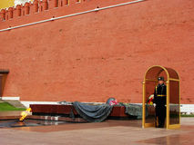 Honor Guard at Tomb of the Unknown Soldier, Moscow, Russia Royalty Free Stock Images