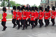 Honor Guards on Canada Day at Parliament Hill Royalty Free Stock Images