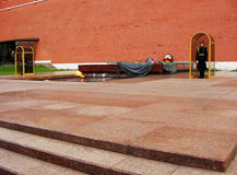 Honor Guards at Tomb of the Unknown Soldier, Moscow, Russia Stock Images