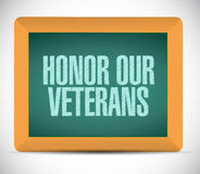 honor our veterans board sign Stock Photography