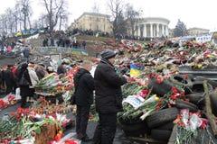 Honor para los héroes del ucraniano. fotografía de archivo libre de regalías