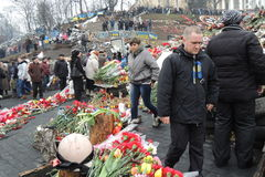 Honor para los héroes del ucraniano. fotografía de archivo