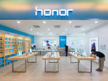 Honor store in Plaza Low Yat, Kuala Lumpur Royalty Free Stock Photography