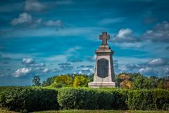 Honor the Swedes. Monument to the Swedes from the Russians was built in 1909 to honor the memory of Swiss soldiers who died in the Battle for Poltava Stock Photo