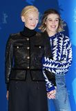 Honor Swinton-Byrne,  Tilda Swinton pose at the `The Souvenir stock photo