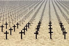 Honor to the dead soldiers Stock Image