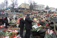 Honor for Ukrainian�s heroes. Royalty Free Stock Photography