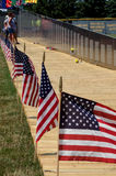 Honor at the vietnam wall Royalty Free Stock Photography