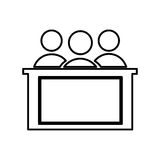 honorable jury isolated icon design Royalty Free Stock Photos