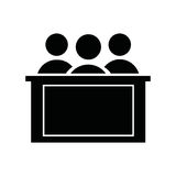 honorable jury isolated icon design Stock Image