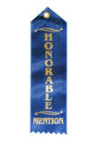Honorable Mention Ribbon. Isolated on pure white background Royalty Free Stock Photo