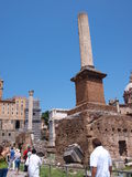 Honorary columns, Forum Romanum, Rome, Italy Stock Images