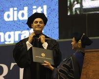 An Honorary Doctoral Degree Bestowed at NAU. FLAGSTAFF, ARIZONA, MAY 13. Northern Arizona University on May 13, 2016, in Flagstaff, Arizona. An Honorary Doctoral Stock Photography