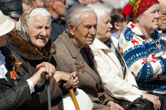 Honorary guests. Veterans Royalty Free Stock Photography