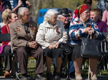 Honorary guests. Veterans Royalty Free Stock Images