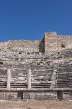 Honorary seats in Miletus. Greek amphitheater in Miletus city with Honorary seats and colomns, Turkey Stock Images