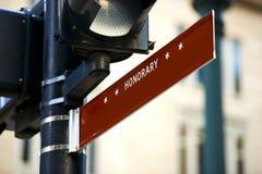 Honorary Street Sign Stock Photos