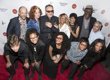 Michael Dorf, Bonnie Raitt, Elvis Costello, Darlene Love, Bettye LaVette, and Keb`Mo` stock image