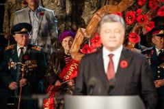 Honorer la première minute de paix Images stock