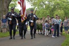 Honores del Memorial Day   Foto de archivo libre de regalías