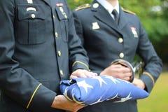 Honores militares Imagen de archivo libre de regalías