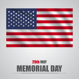 Honoring all who served banner for memorial day. American flag on gray background Stock Photography