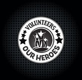 Honoring i volontari Fotografia Stock