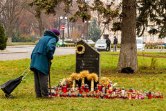 Honoring the memory of victims of Holodomor in Uzhgorod Royalty Free Stock Images