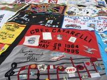 Honoring Those Who Have Died. Photo of aids quilt at the national mall in washington dc on 6/28/12 as part of the smithsonian folklife festival.  This quilt Stock Photos
