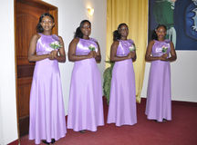 HONORS AFRICAN GIRLS Royalty Free Stock Photo