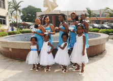 HONORS AFRICAN GIRLS Stock Photo