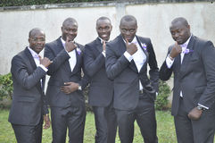 HONORS AFRICAN MEN Stock Photography