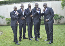 HONORS AFRICAN MEN Stock Photo