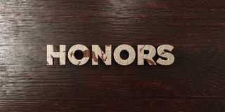Honors - grungy wooden headline on Maple  - 3D rendered royalty free stock image Stock Photo