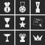 Honors Icons. Set of icons on a theme honors Royalty Free Stock Image