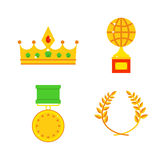 Honors icons vector illustration. Royalty Free Stock Photography