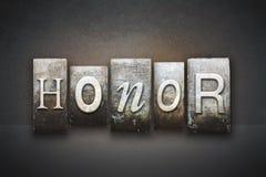 Honoru Letterpress Obrazy Royalty Free