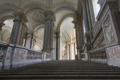 The honour Grand Staircase, Caserta. Caserta, Italy, : Caserta Royal Palace, the honour Grand Staircase, projected by Italian Architect Luigi Vanvitelli in late Stock Images