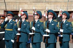 The honour guard of interior Ministry troops of Russia Royalty Free Stock Photography