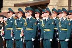 The honour guard of interior Ministry troops of Russia Royalty Free Stock Photos