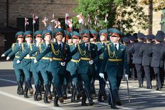 The honour guard of interior Ministry troops of Russia Stock Photo