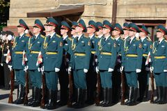 The honour guard of interior Ministry troops of Russia Royalty Free Stock Photo