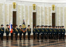 The honour guard of interior Ministry troops of Russia. Special military formations are designed to ensure the internal security o. MOSCOW, RUSSIA - JULY 23,2014 Stock Image