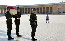 Honour guards at the Ataturk Mausoleum Stock Photography