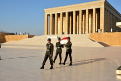 Honour guards at the Ataturk Mausoleum Stock Images
