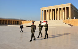Honour guards at the Ataturk Mausoleum Stock Photo
